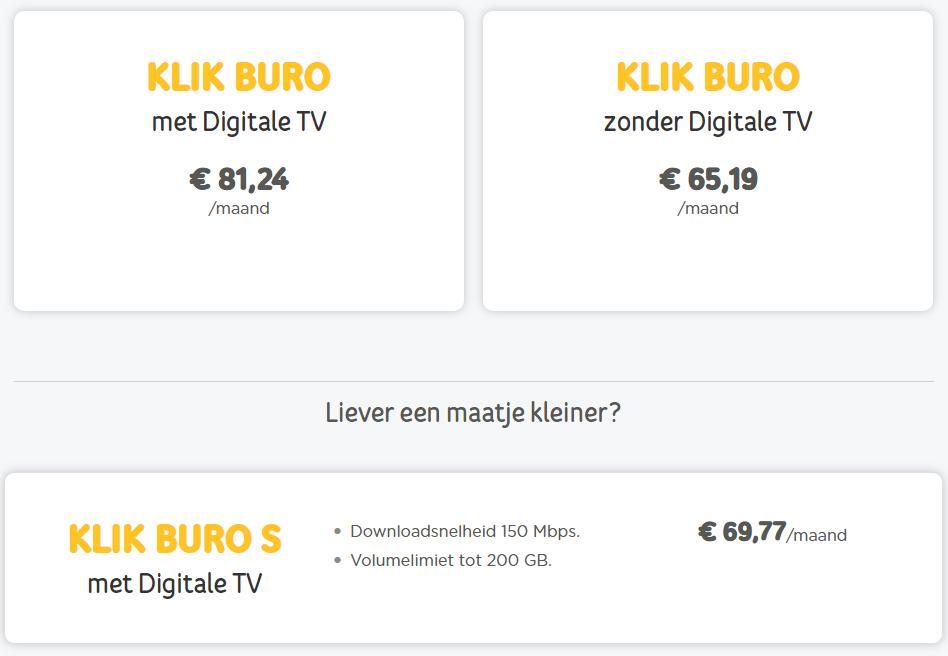 klik buro - pakketten