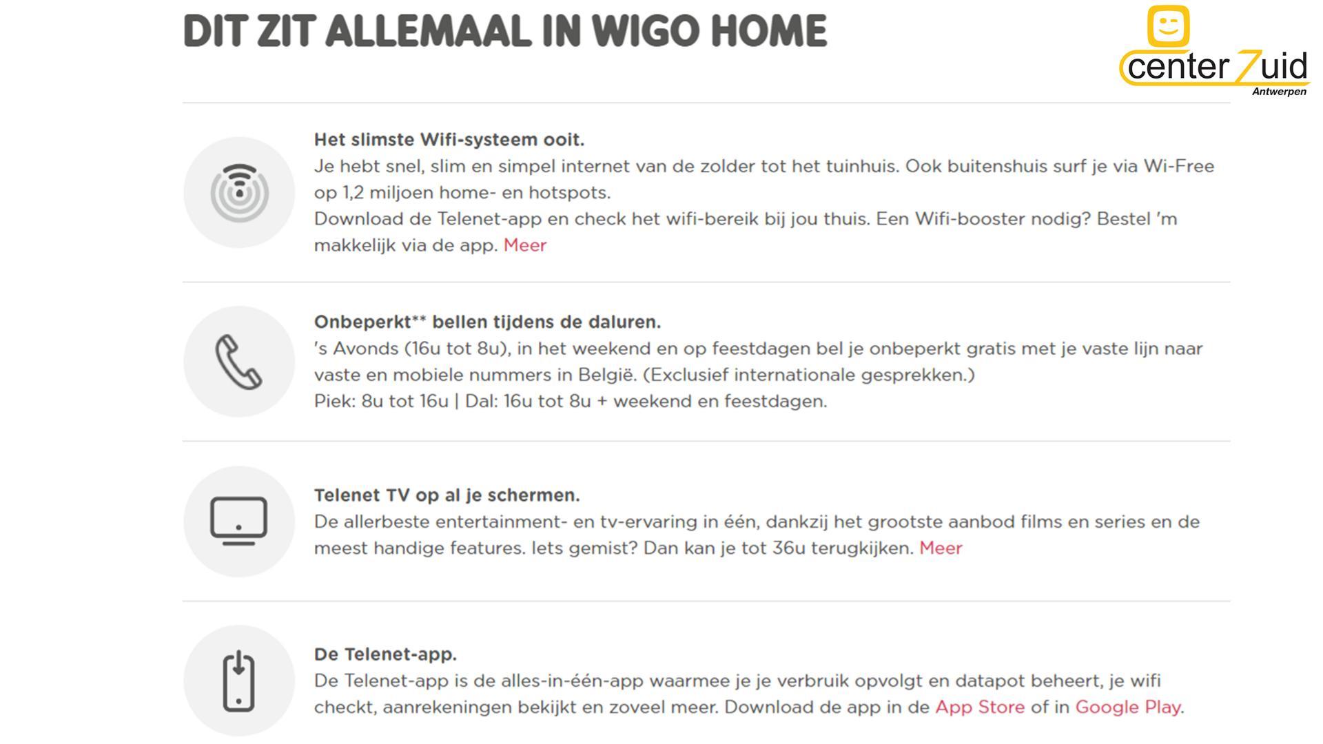 telenet - wigo - inhoud