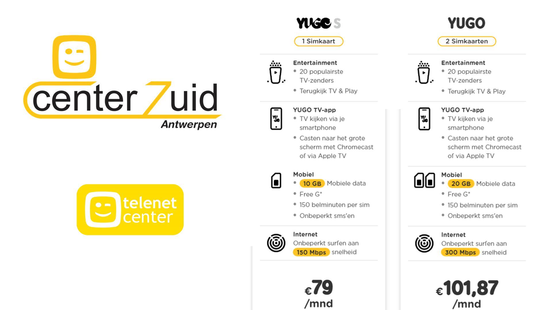 yugo - telenet - aanbod