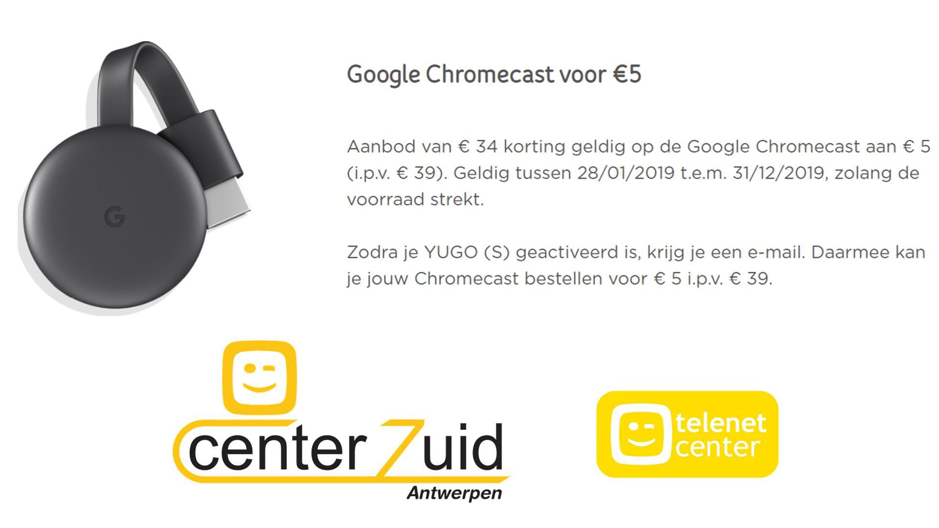 yugo - telenet - chromecast
